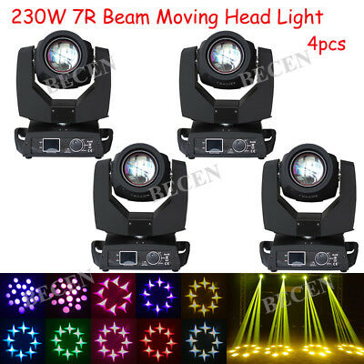 230w 7R sharp beam moving head light 16CH touch screen stage for Party DJ 4pcs