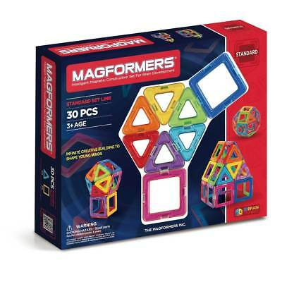 NEW Genuine Magformers Construction set - 30 Piece | Kids Toys Brain Building