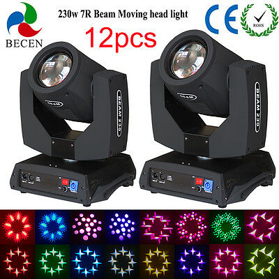 230w 7R sharp beam moving head light 16CH touch screen dj stage for party 12pcs