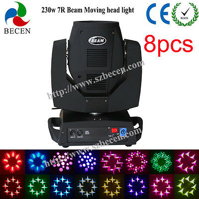 230w 7R sharp beam moving head light 16CH touch screen stage dj party show 8pcs