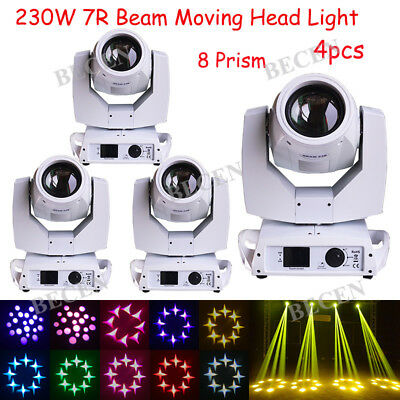 230w 7R sharp beam moving head light 16CH touch screen stage dj party show 4pcs