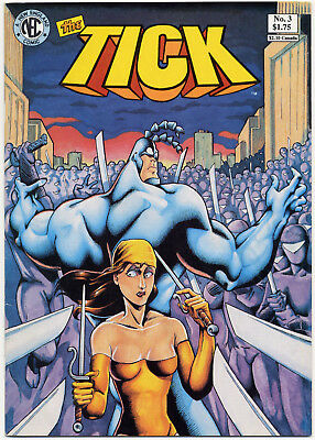 THE TICK #3 FIRST PRINT 1988 * VERY FINE * New England Comics NEC Ben Edlund