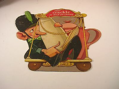 Kelloggs Rice Krispies 1930's Crackle store display Double sided cardboard