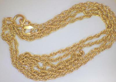 "14KT Yellow GOLD NEW Rope Link Chain Necklace 18"" Long 2.198 GRAMS"