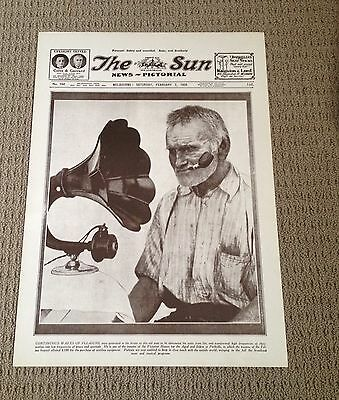 The Sun Newspaper Melbourne Front Page Radio Frequency Feb 1925