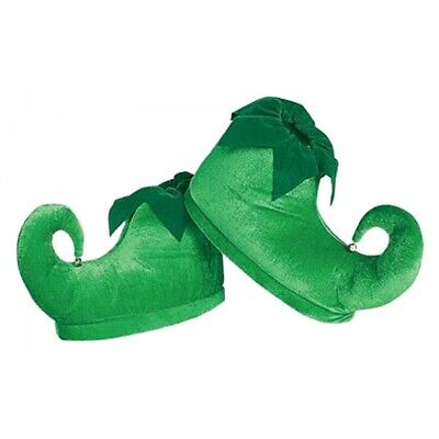 Deluxe Elf Shoes Green Santa's Helper Costume Accessory Adult Christmas