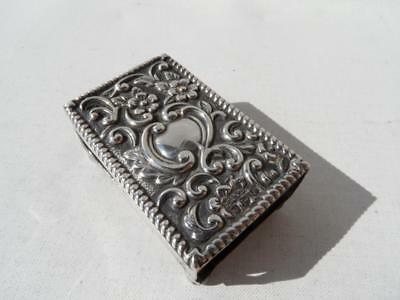 Antique 1898 Sterling Silver Chester Henry Griffith & Son Match Case Box Holder