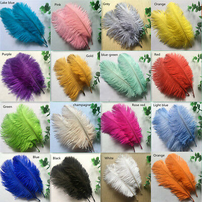 50pcs Beautiful natural ostrich feathers 6-8 inches / 15-20 cm (16 colors)