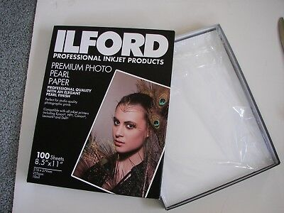 "ILFORD 8.5"" X 11"" Photographic INKJET Paper Premium PEARL 35 Sheets -open box"