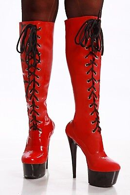 Floral heavy latex knee high bounced latex boots EU37-44 Preorder