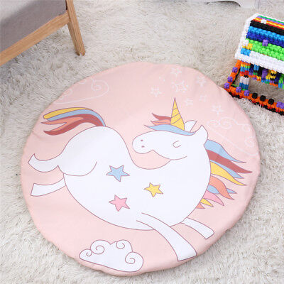 90*90cm Fashion Pink Unicorn Round Rug Pads Carpet Baby Play Mat home Decoration