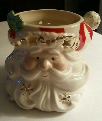 Lenox Occasions Santa Votive/Candle Holder + BONUS