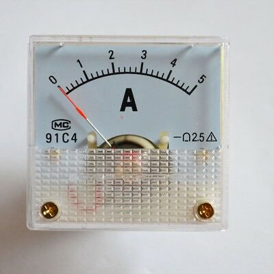 5a ANALOG AMP CURRENT PANEL METER DC 0~5A 91C4 AMMETER
