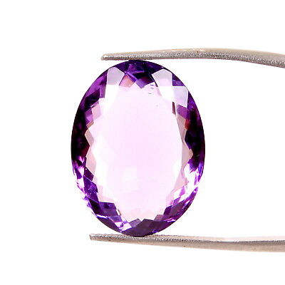 Aaa Quality Natural Purple Amethyst 22x16.5 Mm Faceted Oval Gemstones 20.50 Ct.