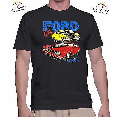 FORD FALCON XA XB GT HEAVY MUSCLE  Retro Vintage MEN'S & WOMEN'S  T SHIRT