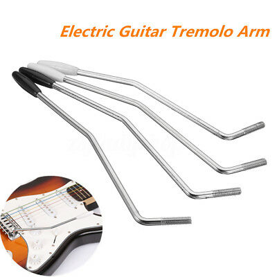5/ 6mm Guitar Tremolo Arm Whammy Bar for Fender & Squier Strat Black/White Tip