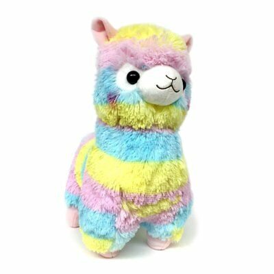 AMUSE Alpacasso Plush Rainbow Stuffed Animal 18 Rainbow Alpaca by Amuse