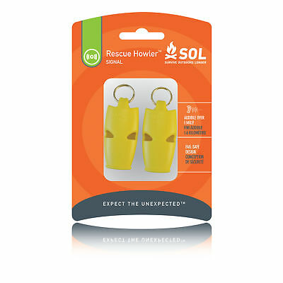 Advanced Fox 40 Rescue Howler Jaune Sifflet Secours Urgence Premier Soin 2 Pack