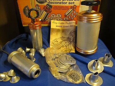 Vintage Mirro Cookie/pastry Press/ Cookie/cake Decorator Set, Recipes And More!