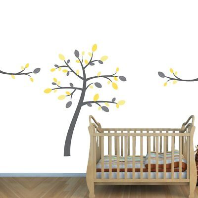 Yellow and Gray theme Wall Decals for Childrens Rooms