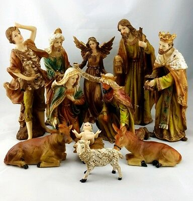 "New Religious 12"" Christmas Nativity Set 11 Pieces (30cm)"