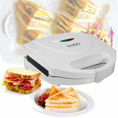 AU Sandwich Press Grill Toaster Maker Non Stick Deep Dish Toasted Roll 2 Slices