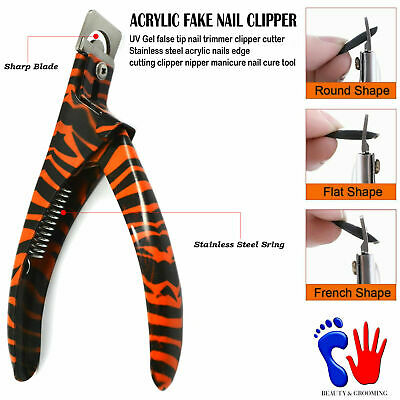 Acrylic-UV-Gel-Artificial-Fake Nails Clipper Cutter Tooth Tartar Remover FREE CE