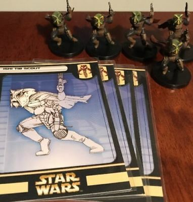 HUGE Lot of 5 Ishi Tib Scout Star Wars Miniatures 53/60 Game Figures with Cards