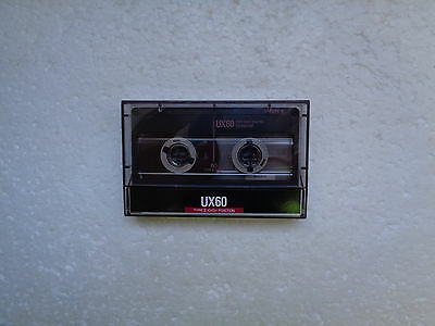 Vintage Audio Cassette SONY UX 60 * Rare From 1988 * Unsealed