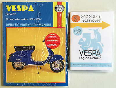 Vespa Rotary Valve Models 1959 to 1978 with The Vespa Engine Rebuild DVD