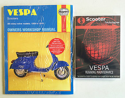 Vespa Rotary Valve Models 1959 to 1978  with The Vespa Running Maintenance DVD
