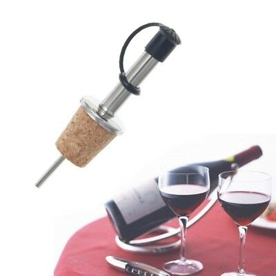 Stainless Steel Liquor Spirit Pourer Flow Wine Bottle Pour Spout Stopper Cork