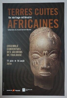 Terres Cuites Africaines, Musee Barbier-Mueller, Affiche D'exposition 2010