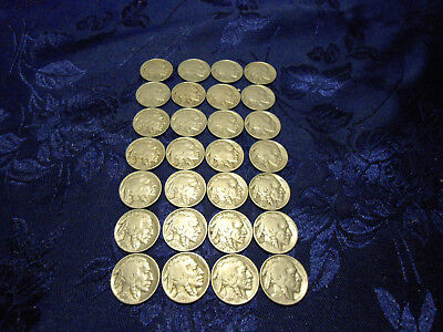 Buffalo Nickel Lot of 28 - Mixed Dates Nickels 5 Cents - OLD PARTS ONLY