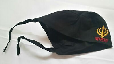 Sikh Punjabi Black Kids Infants baby patka pathka Khanda bandana Head Wrap Gear