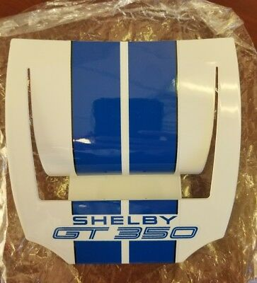 Ford Mustang Shelby GT 350 Business Card Holder - White w/Blue - Rare