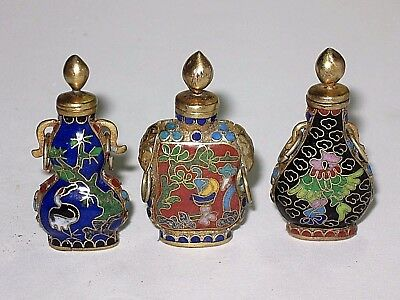 Vintage Chinese Miniature Cloisonne' Snuff Bottle Collection- Lot