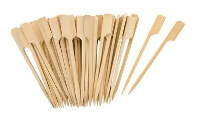 KRAFTZ® 100pc 18cm Wooden Bamboo Skewers Disposable Cocktail Party Tableware