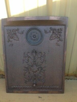 Antique Cast Iron Summer Fireplace Cover With Sliding Hole Cover Plate **sale**