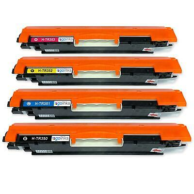 4 Toner Cartridges to replace HP CF350A, CF351A, CF352A, CF353A (130A) non-OEM