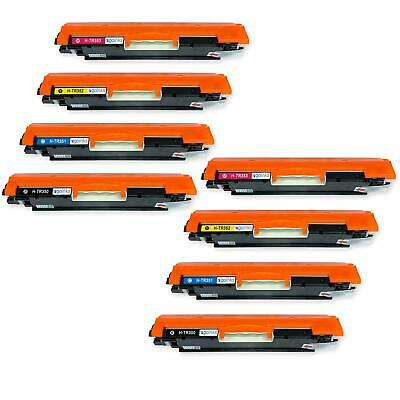 8 Toner Cartridges to replace HP CF350A, CF351A, CF352A, CF353A (130A) non-OEM