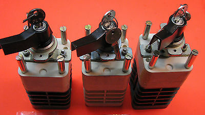 GEC Alsthom Breaker Control Switches c/w Keys & LOCAL/REMOTE nameplate; Lot of 3