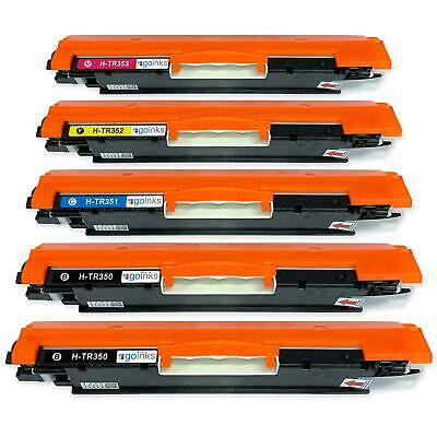 5 Toner Cartridges to replace HP CF350A, CF351A, CF352A, CF353A (130A) non-OEM