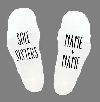 Sole Sisters Ladies Womens Socks Girls Gift Birthday Christmas Friends Friend