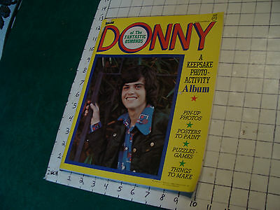 unused DONNY of the Fantastic Osmonds KEEPSAKE PHOTO ACTIVITY ALBUM unused 1974