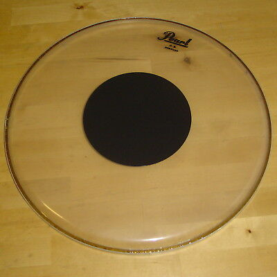 PEARL 14 Zoll Snare Tom Fell CS Clear Black Dot Schlagzeug Drumhead Remo USA