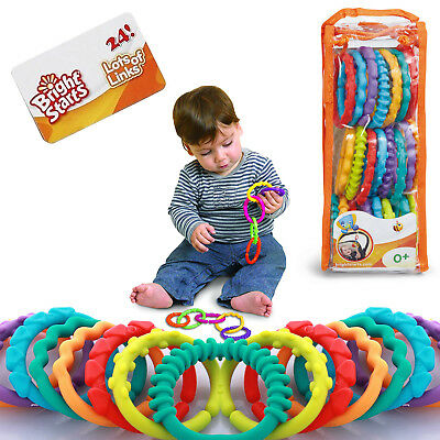 Bright Starts Lots of Links Baby Plastic Rings Teether Accessory Toy 0+ Months