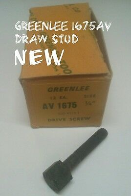 "GREENLEE Model 1675AV  1/4"" Drive Screw for Round Radio Chassis Knockout Punch"