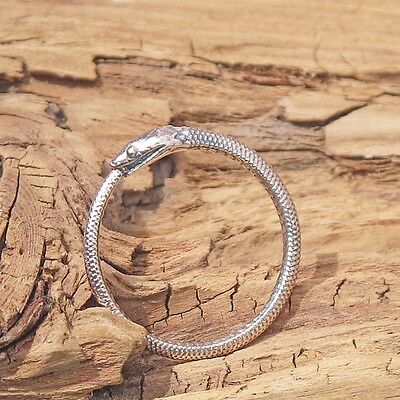 Sterling Silver Snake Ouroboros Ring Eating Tail Gothic