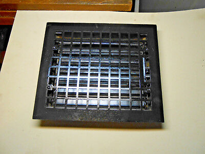Rectangular Iron Floor Register Heat Grate Made For 10 X 12 Duct  W/ Louvers
